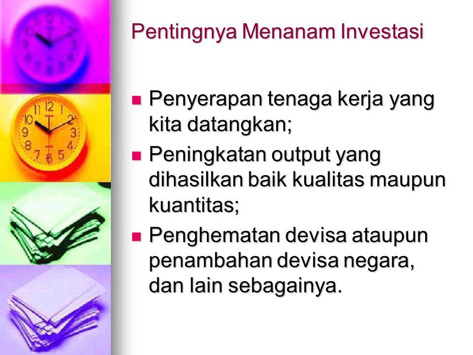 Pentingnya Menanam lnvestasi