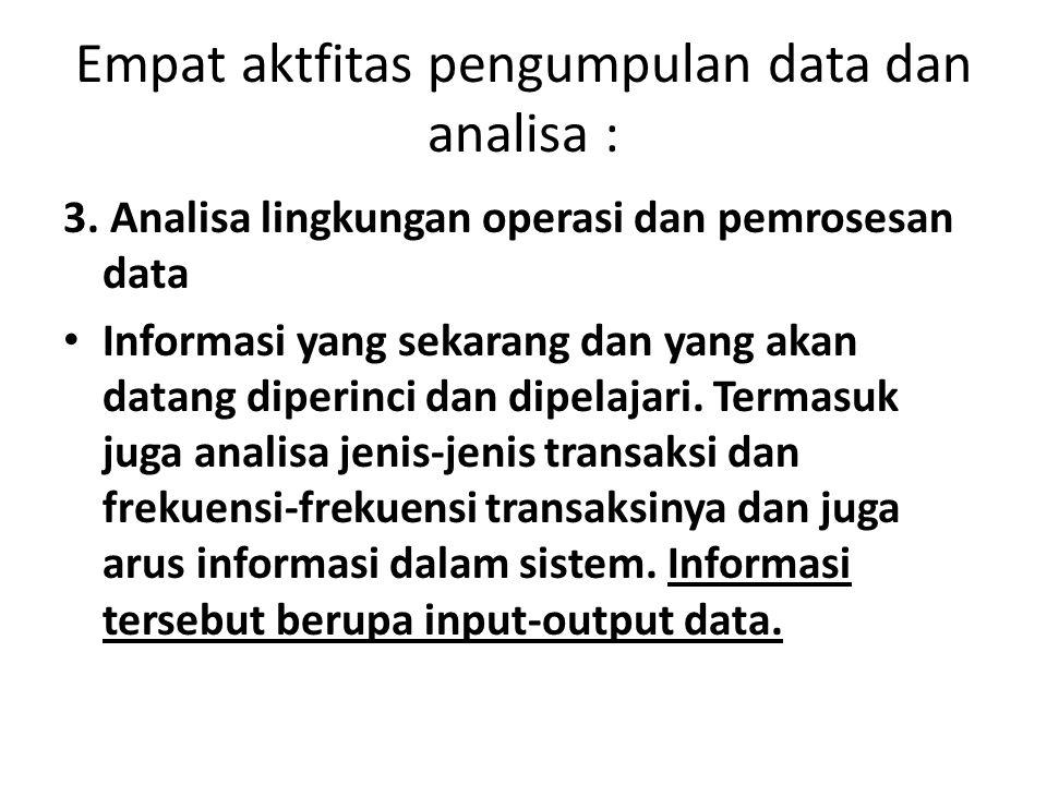 Empat aktfitas pengumpulan data dan analisa :