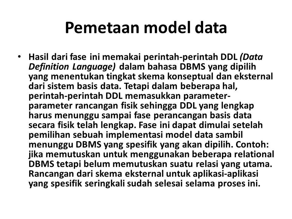 Pemetaan model data