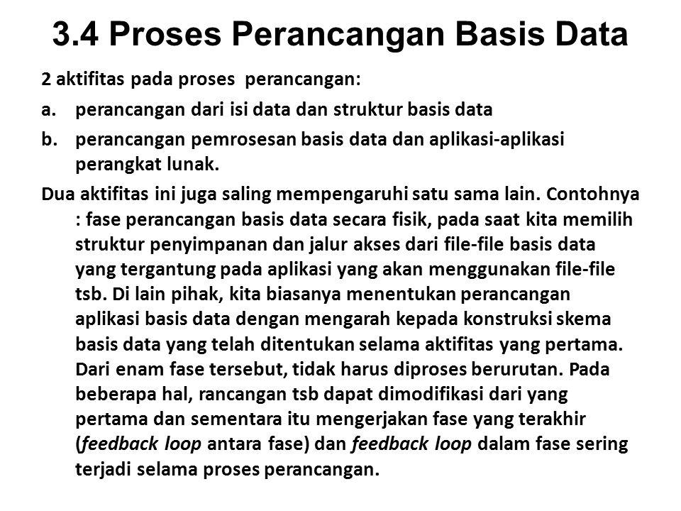 3.4 Proses Perancangan Basis Data