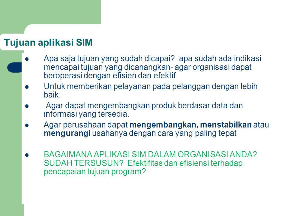 Tujuan aplikasi SIM