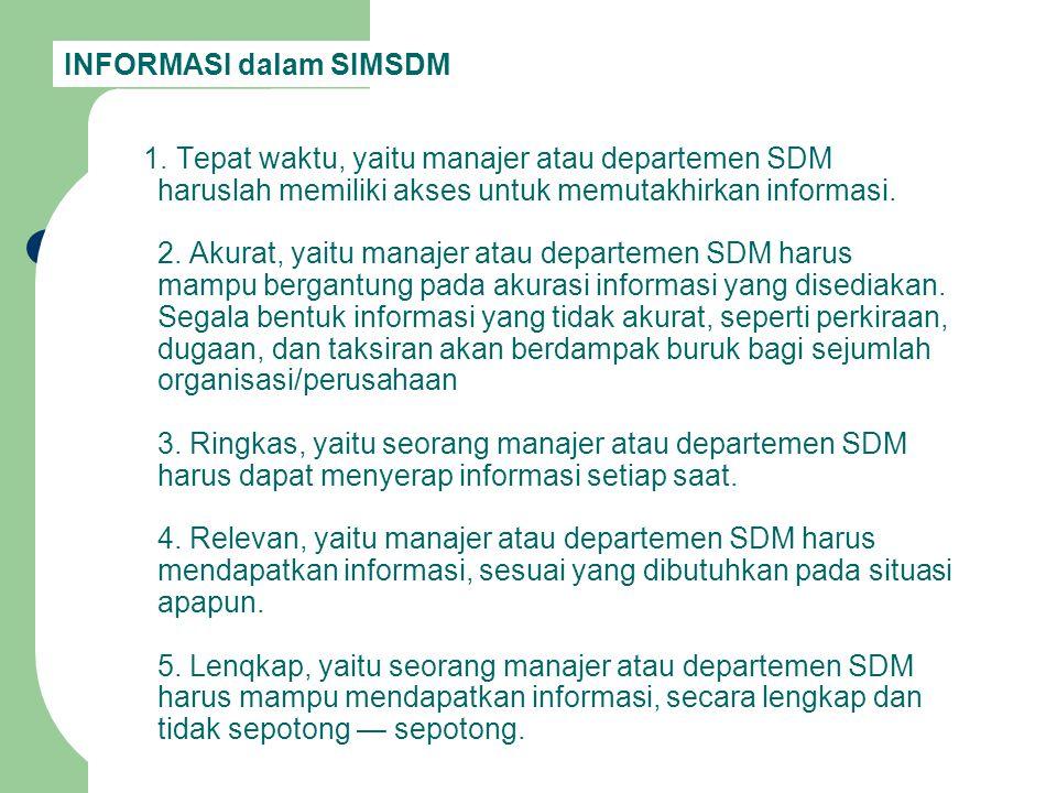 INFORMASI dalam SIMSDM