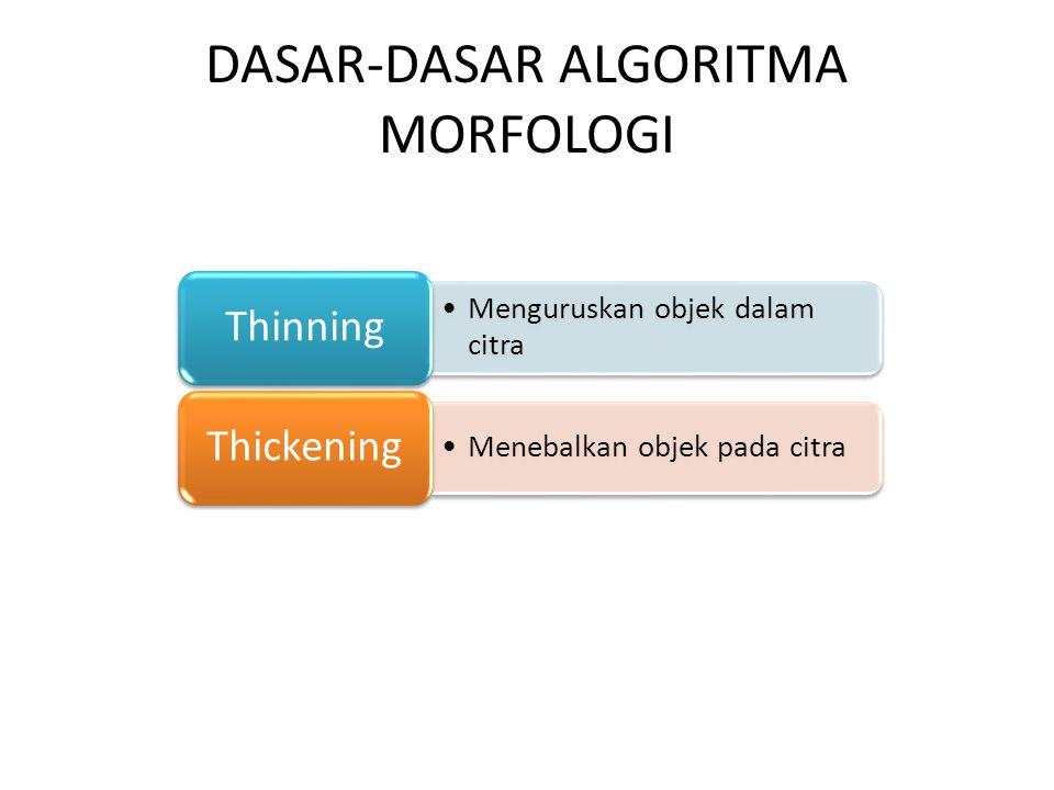 DASAR-DASAR ALGORITMA MORFOLOGI