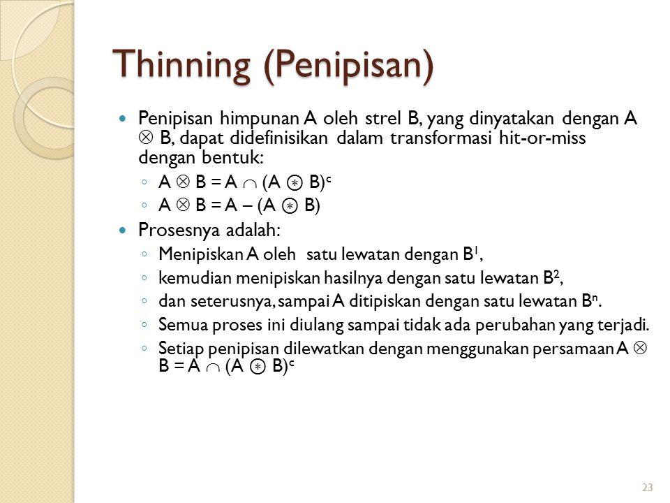 Thinning (Penipisan)