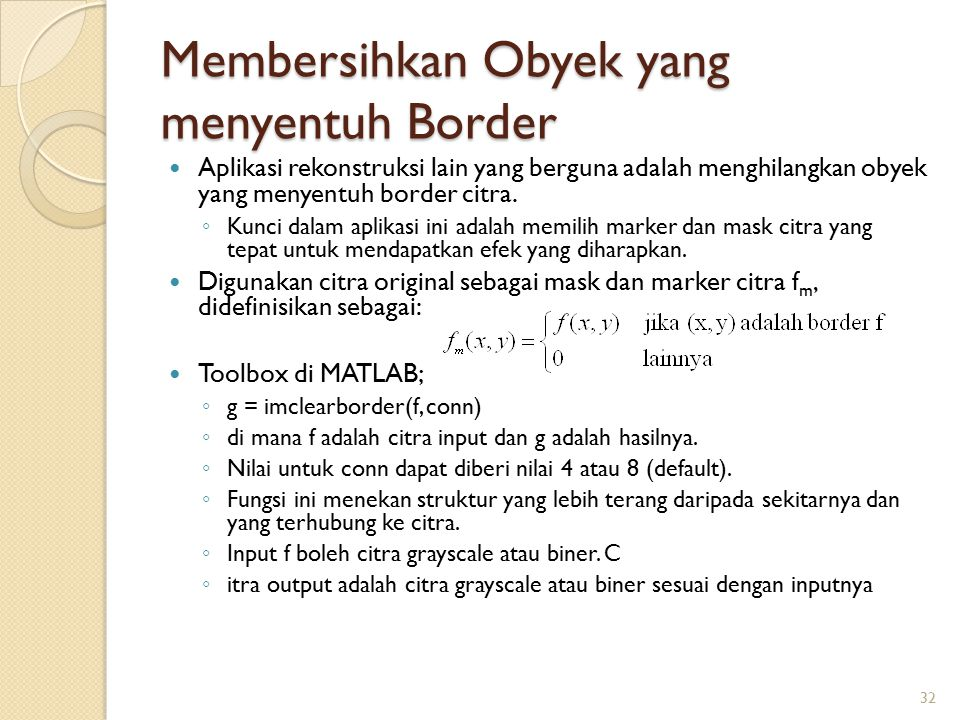 Membersihkan Obyek yang menyentuh Border