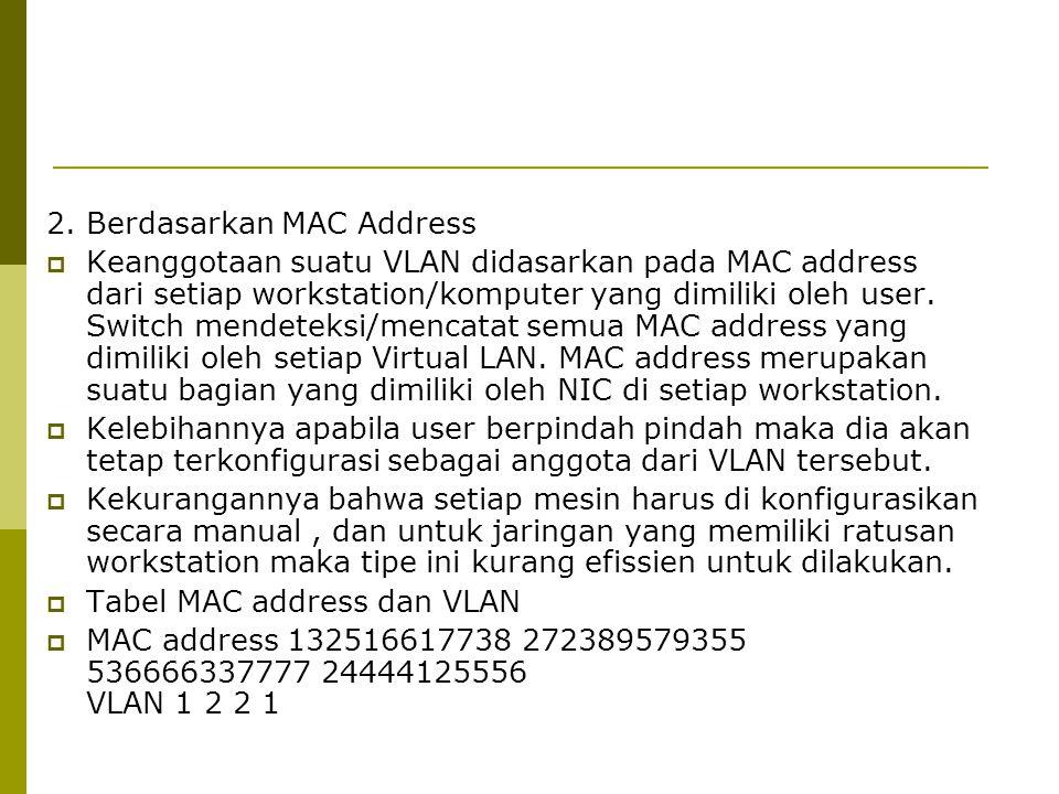 2. Berdasarkan MAC Address