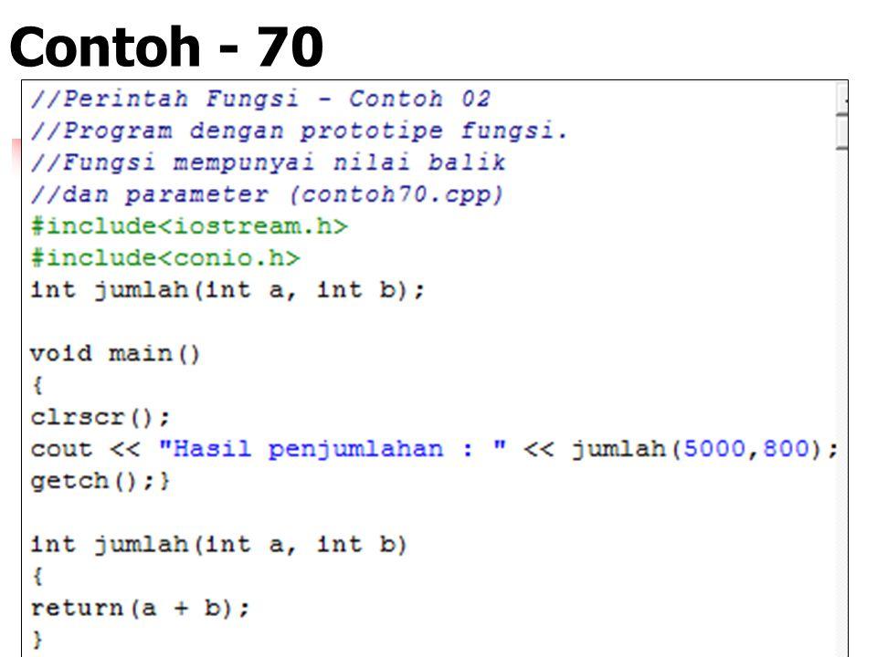 Contoh - 70