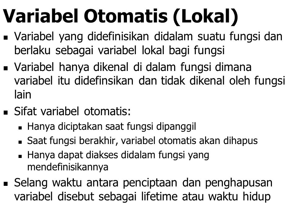 Variabel Otomatis (Lokal)