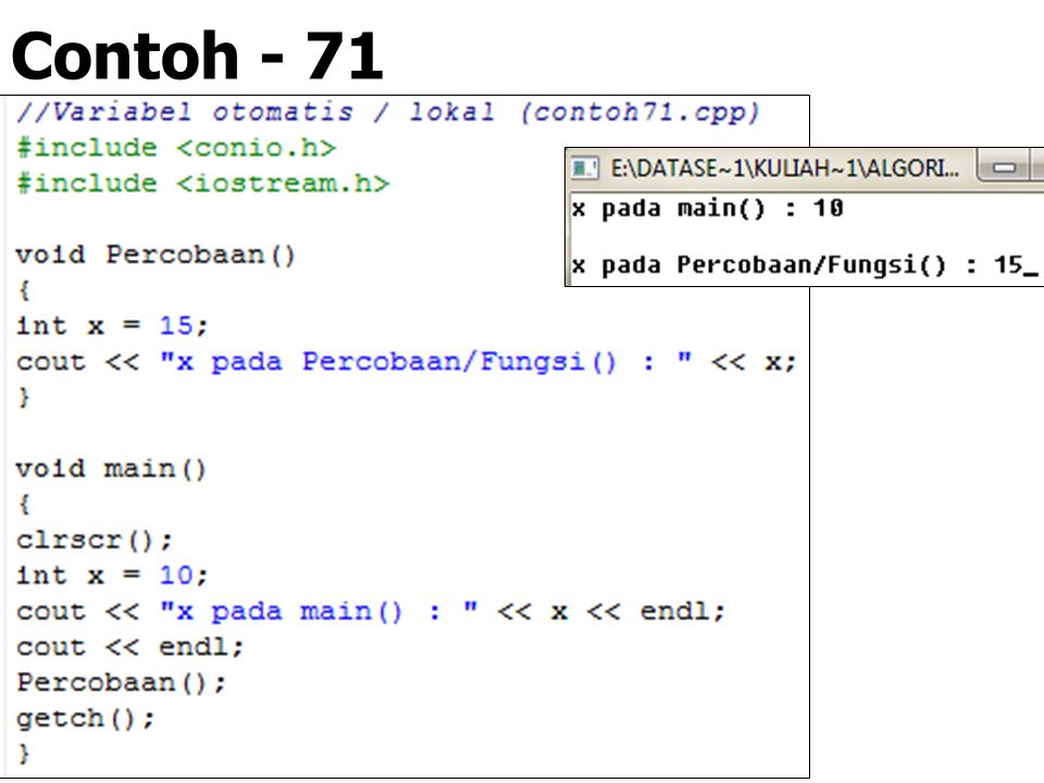 Contoh - 71