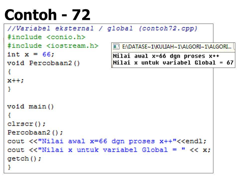 Contoh - 72