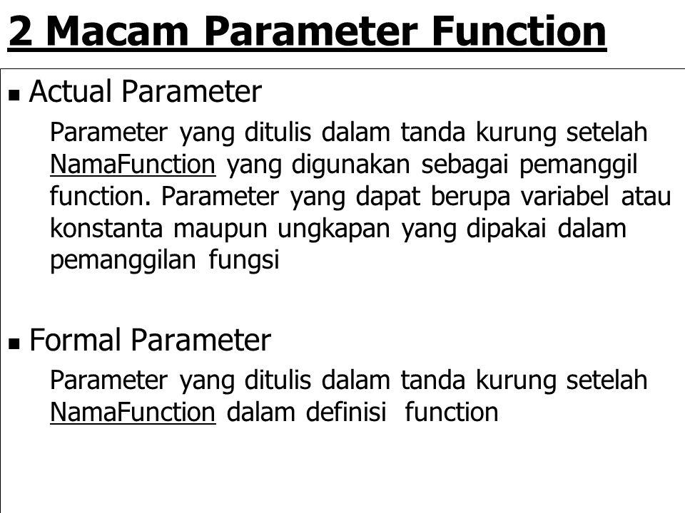 2 Macam Parameter Function