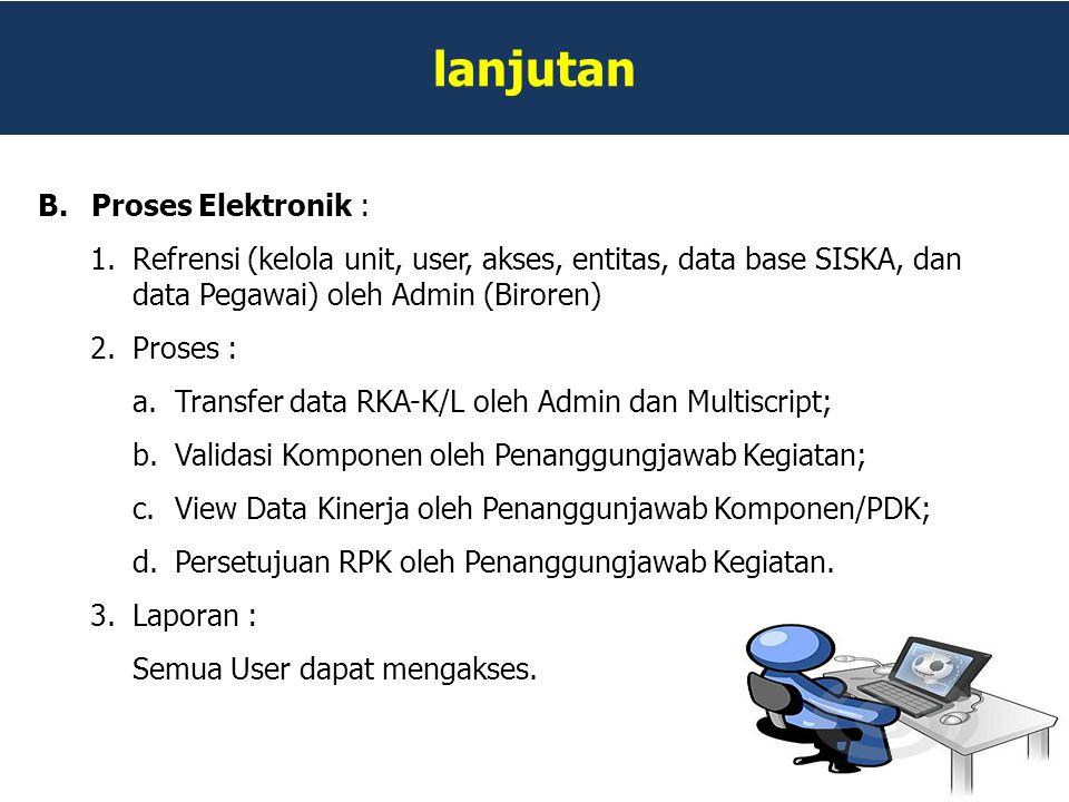 lanjutan Proses Elektronik :