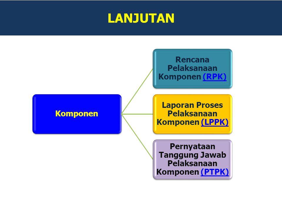 LANJUTAN Pernyataan Tanggung Jawab Pelaksanaan Komponen (PTPK)