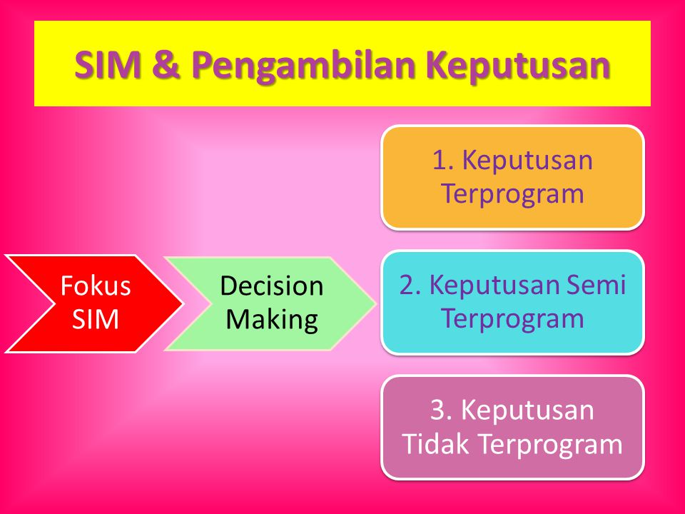 SIM & Pengambilan Keputusan