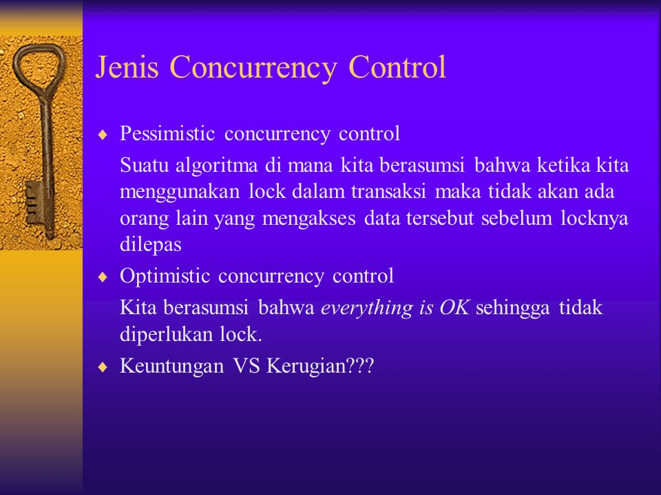 Jenis Concurrency Control