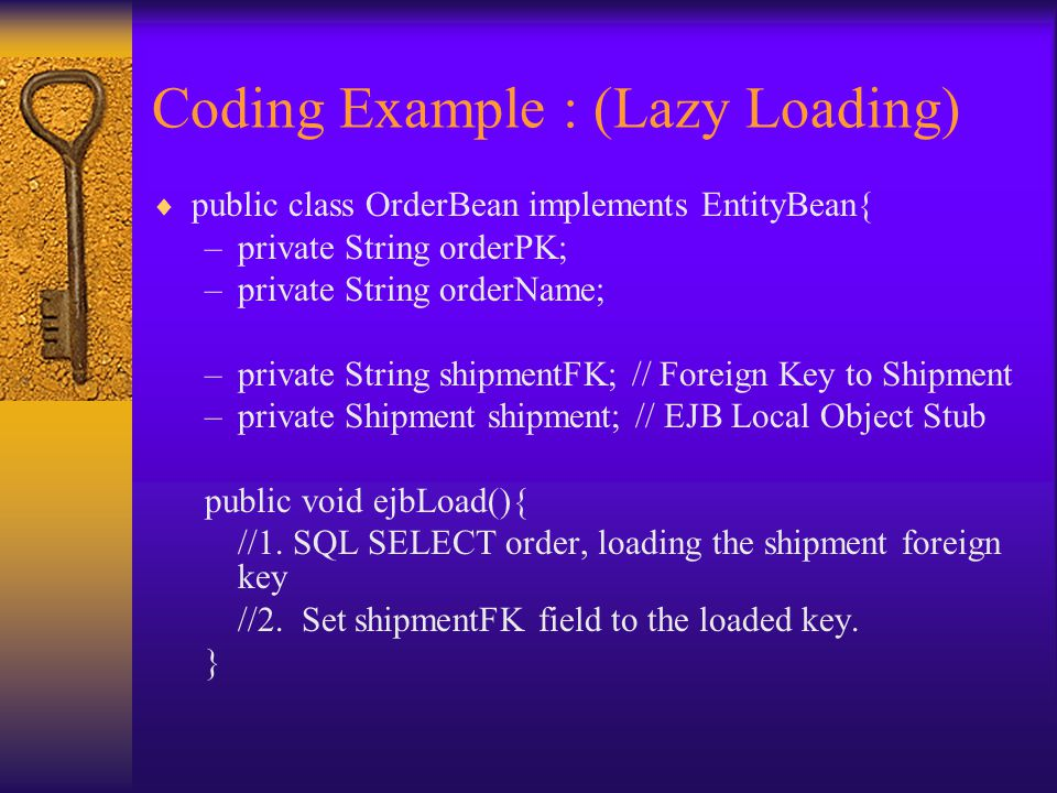 Coding Example : (Lazy Loading)