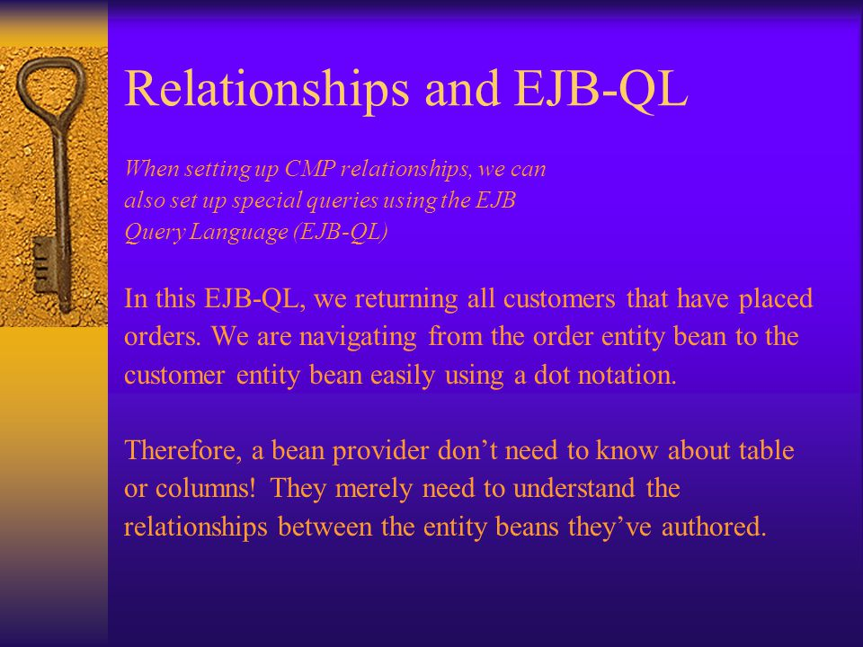 Relationships and EJB-QL