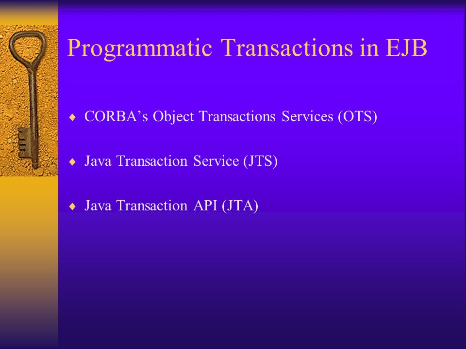 Programmatic Transactions in EJB