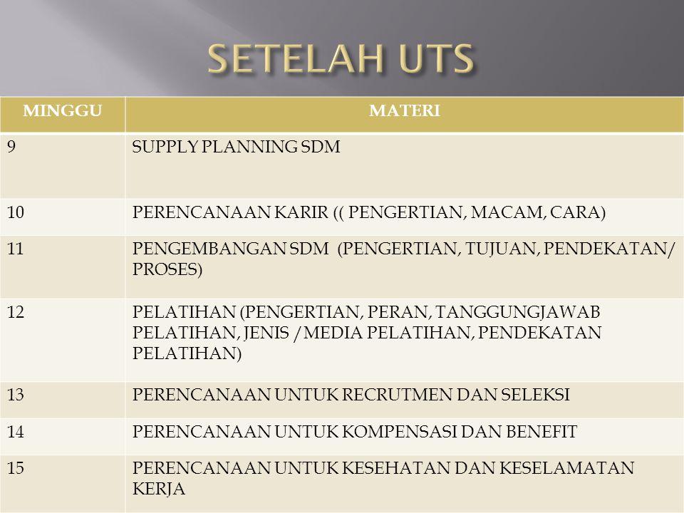 SETELAH UTS MINGGU MATERI 9 SUPPLY PLANNING SDM 10