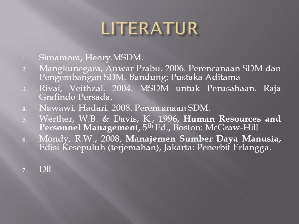 LITERATUR Simamora, Henry.MSDM.