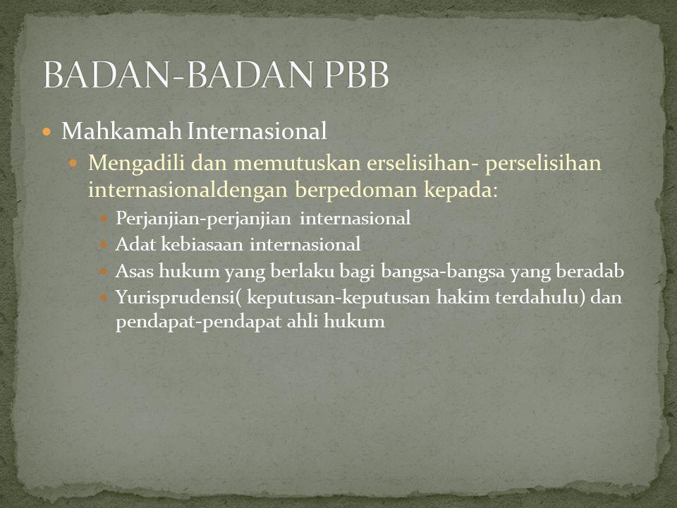 BADAN-BADAN PBB Mahkamah Internasional