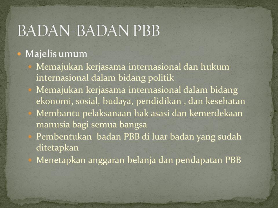 BADAN-BADAN PBB Majelis umum