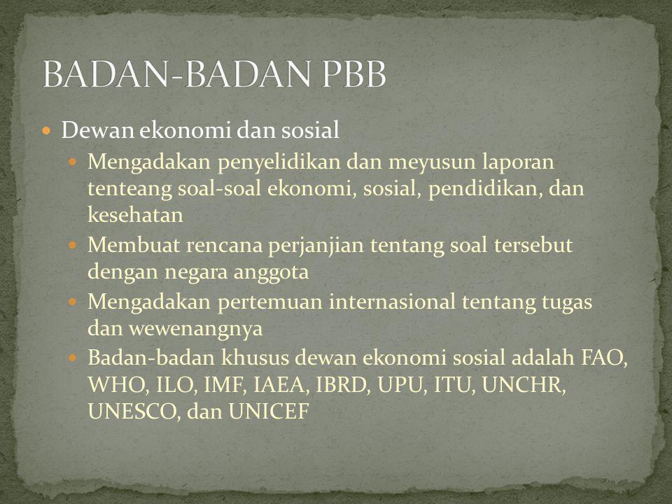 BADAN-BADAN PBB Dewan ekonomi dan sosial