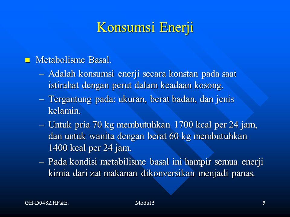 Konsumsi Enerji Metabolisme Basal.