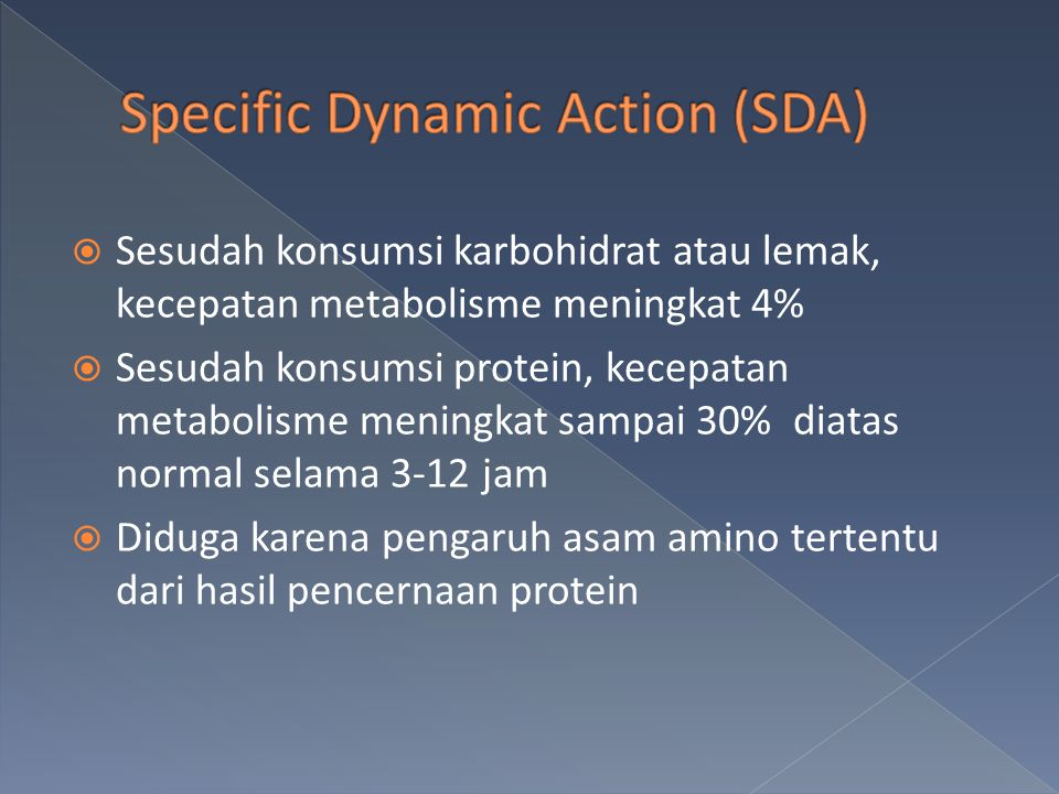 Specific Dynamic Action (SDA)