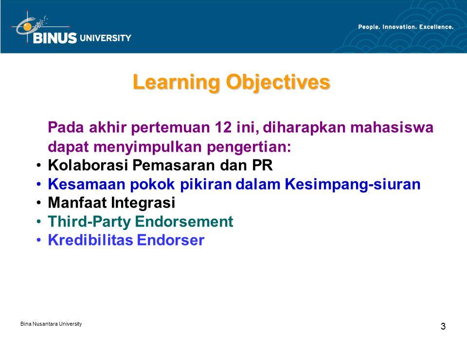 Learning Objectives Pada akhir pertemuan 12 ini, diharapkan mahasiswa dapat menyimpulkan pengertian: