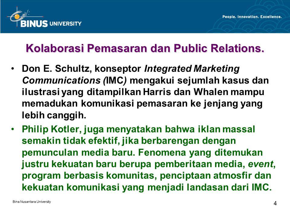 Kolaborasi Pemasaran dan Public Relations.