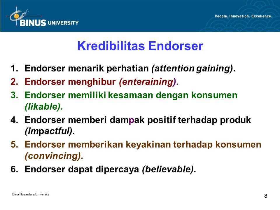 Kredibilitas Endorser