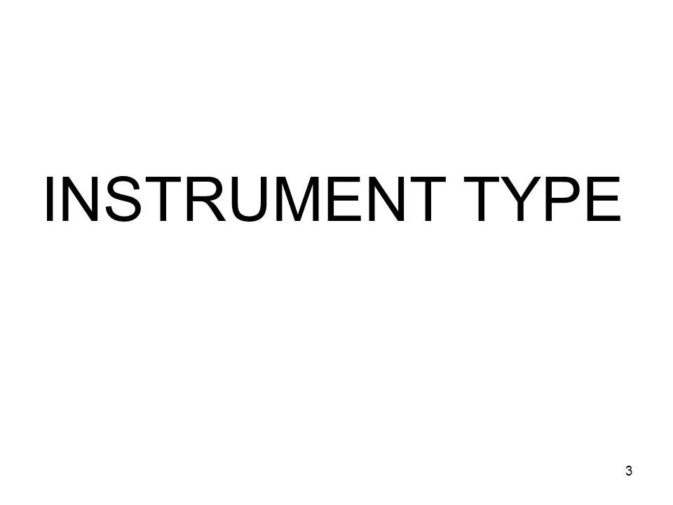 INSTRUMENT TYPE