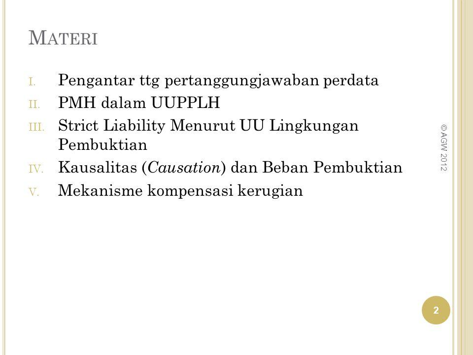 Materi Pengantar ttg pertanggungjawaban perdata PMH dalam UUPPLH