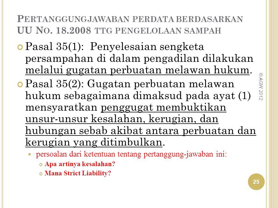 Pertanggungjawaban perdata berdasarkan UU No. 18