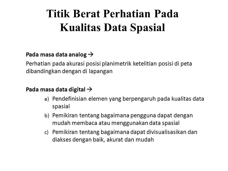 Titik Berat Perhatian Pada Kualitas Data Spasial