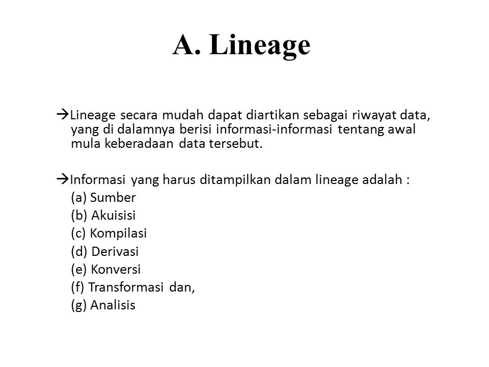 A. Lineage