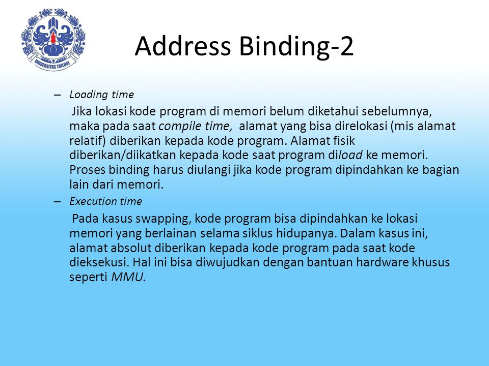 Address Binding-2 Loading time