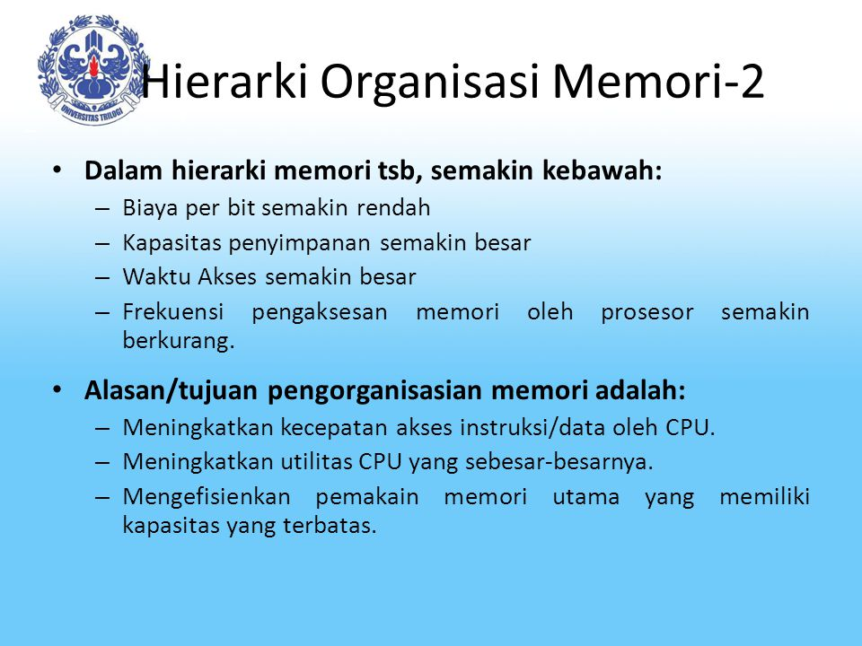 Hierarki Organisasi Memori-2