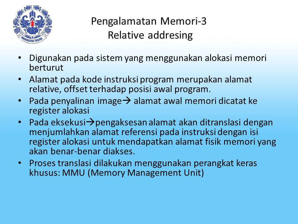 Pengalamatan Memori-3 Relative addresing