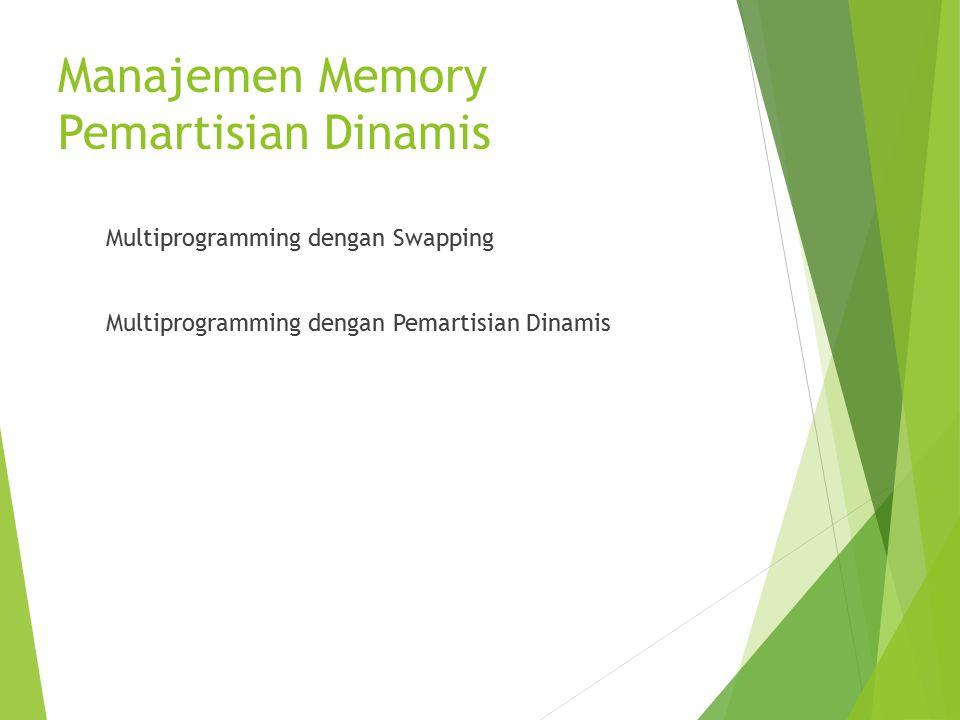 Manajemen Memory Pemartisian Dinamis