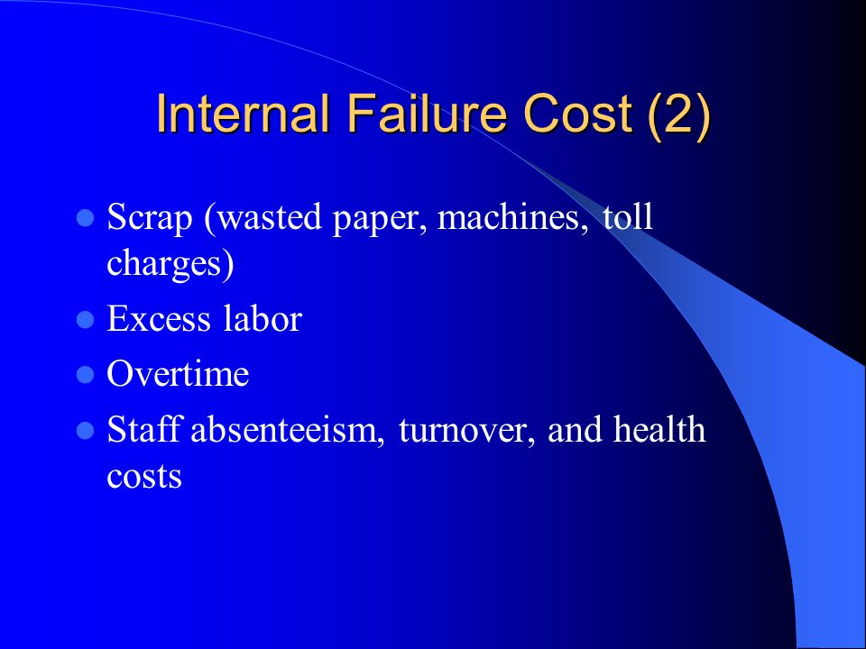 Internal Failure Cost (2)