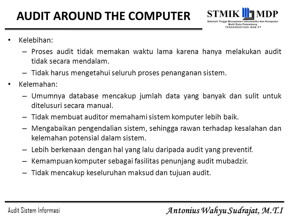 AUDIT AROUND THE COMPUTER