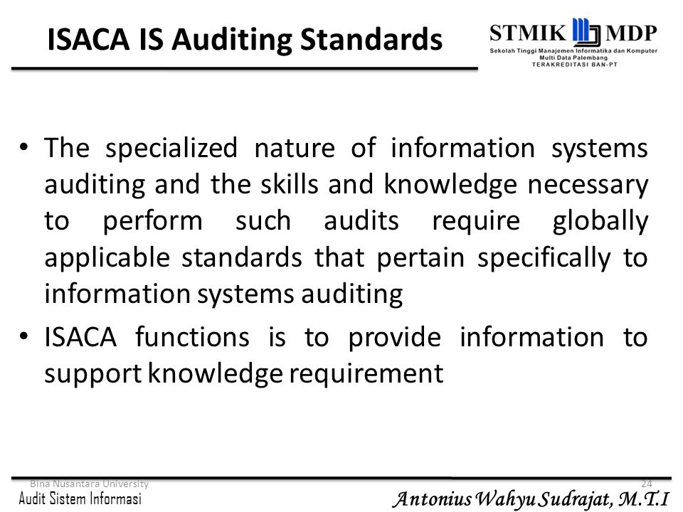 ISACA IS Auditing Standards