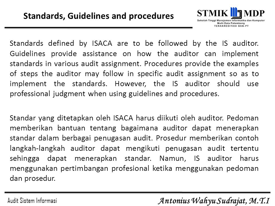 Standards, Guidelines and procedures