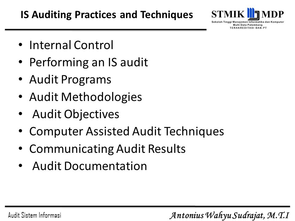 IS Auditing Practices and Techniques