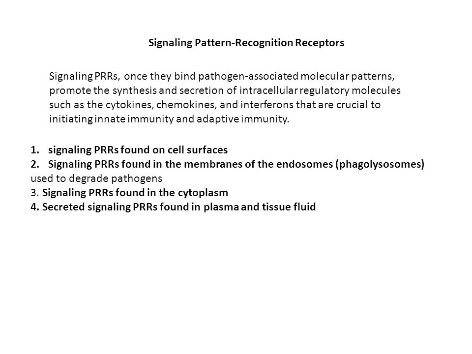 Signaling Pattern-Recognition Receptors