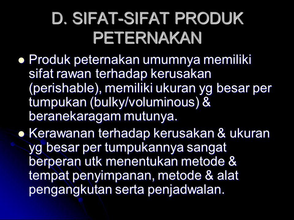 D. SIFAT-SIFAT PRODUK PETERNAKAN