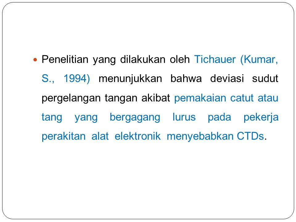 Penelitian yang dilakukan oleh Tichauer (Kumar, S