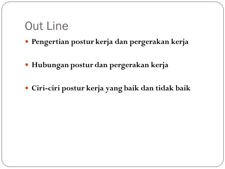 Out Line Pengertian postur kerja dan pergerakan kerja